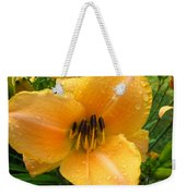 Rainy Day Lily Weekender Tote Bag