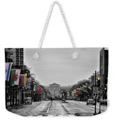 Rainy Day On The Parkway Weekender Tote Bag