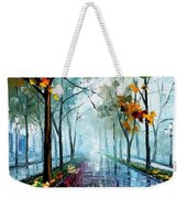 Rainy Day - Palette Knife Oil Painting On Canvas By Leonid Afremov Weekender Tote Bag