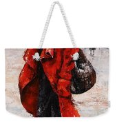 Rainy Day - Red And Black #2 Weekender Tote Bag by Emerico Imre Toth