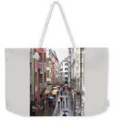 Rainy Day Shopping Weekender Tote Bag