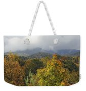 Rainy Fall Day In The Mountains Weekender Tote Bag
