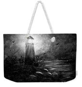 Rainy Night At The Lighthouse Weekender Tote Bag