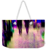 Rainy Night In The City Downtown Evening Stroll Through The Puddles Montreal Art Carole Spandau Weekender Tote Bag