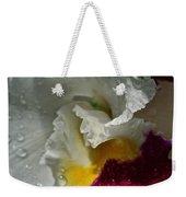 Rainy Orchid Weekender Tote Bag