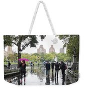 Rainy Washington Park  Weekender Tote Bag