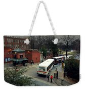Raleigh Bus Terminal - Evening Weekender Tote Bag by Paulette B Wright