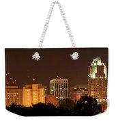 Raleigh Skyline At Night Weekender Tote Bag