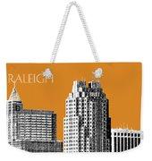 Raleigh Skyline - Dark Orange Weekender Tote Bag