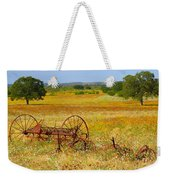 Ranch And Wildflowers And Old Implement 2am-110547 Weekender Tote Bag