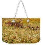 Ranch And Wildflowers And Old Implement 2am-110546 Weekender Tote Bag