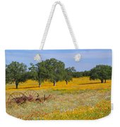 Ranch And Wildflowers And Old Implement 2am-110556 Weekender Tote Bag