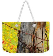 Ranch Wildflowers And Fence 2am-110532 Weekender Tote Bag