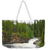 Rancheria Falls Along Alaska Highway In Yk-canada   Weekender Tote Bag