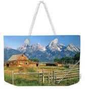 1m9392-ranchland And The Tetons Weekender Tote Bag