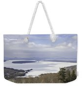 Rangeley Maine Winter Landscape Weekender Tote Bag by Keith Webber Jr