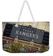 Rangers Ballpark In Arlington Color Weekender Tote Bag