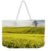 Rape Landscape With Lonely Tree Weekender Tote Bag by Heiko Koehrer-Wagner