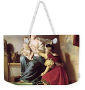 Raphael Adjusting His Model's Pose For His Painting Of The Virgin And Child  Weekender Tote Bag