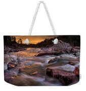 Rapids At Dawn Weekender Tote Bag
