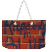 Rapsody In Blue Weekender Tote Bag