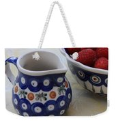 Raspberries With Cream Weekender Tote Bag