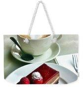 Raspberry Delice And Latte Weekender Tote Bag