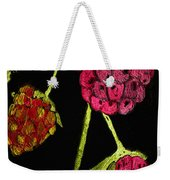 Raspberry Fabric Weekender Tote Bag