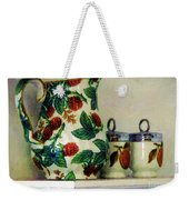Raspberry Pitcher Weekender Tote Bag