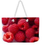 Raspberry Red Weekender Tote Bag