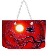 Raven In Ruby Red Weekender Tote Bag