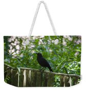 Raven In The Wild Weekender Tote Bag