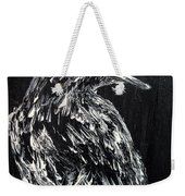Raven On The Branch - Oil Painting Weekender Tote Bag