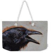 Raven Sketch Weekender Tote Bag