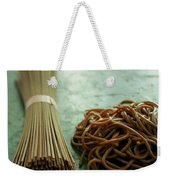 Raw And Cooked Pasta Weekender Tote Bag