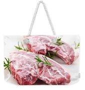 Raw Lamb Chops Weekender Tote Bag