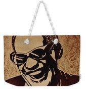 Ray Charles Original Coffee Painting Weekender Tote Bag