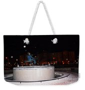 Ray Charles Statue In A Odd Weather Event Weekender Tote Bag