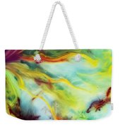 Rays Of The Sun Watercolor Abstraction Painting Weekender Tote Bag