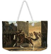 Re-closing Frontiersmen Coming Into The Fort Weekender Tote Bag
