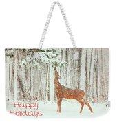 Reach For It Happy Holidays Weekender Tote Bag by Karol Livote