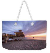 Reaching Into Sunrise Weekender Tote Bag