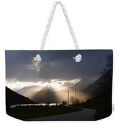Reaching Through The Coulds Weekender Tote Bag