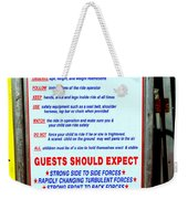 Read All Posted Rules Weekender Tote Bag