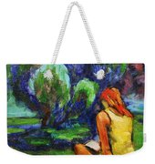 Reading In A Park Weekender Tote Bag