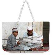 Reading In New Delhi Weekender Tote Bag