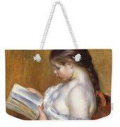 Reading Weekender Tote Bag by Pierre Auguste Renoir