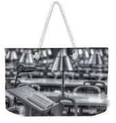 Reading Stand And Tables II Weekender Tote Bag