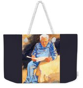 Reading Time Weekender Tote Bag by Kathy Braud