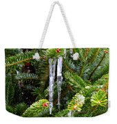 Real Christmas Icicles Weekender Tote Bag